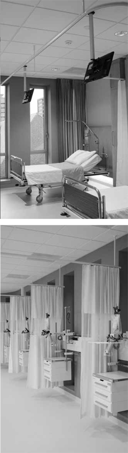 electric operated bed separation rails