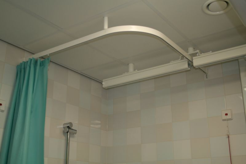 Shower Curtain Rails Moisture Resistant Smoothly Gliding Goelst